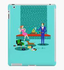 Retro Couple with Dog iPad Case/Skin