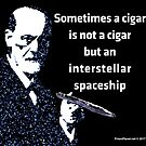 Freud and the Cigar-shaped Asteroid by EyeMagined