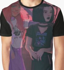 Alien Princess and Half Demon Graphic T-Shirt