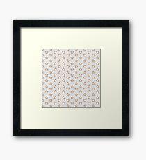 Chic white faux gold glitter modern stars pattern Framed Print