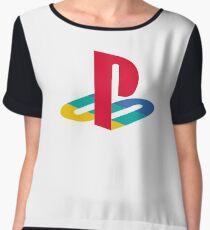 Playstation Logo Women's Chiffon Top