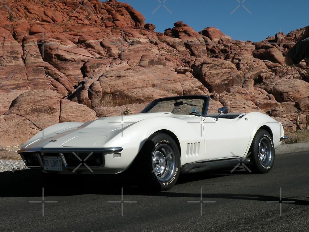 1968  Pearl White Corvette by Rita  H. Ireland
