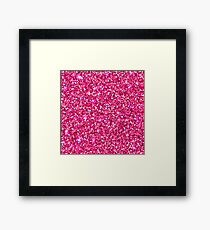 Hot pink white modern abstract pattern Framed Print