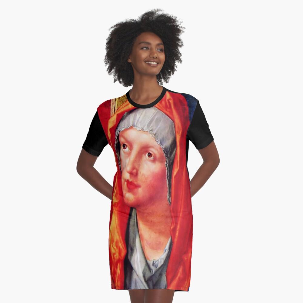 Betende Maria Graphic T-Shirt Dress