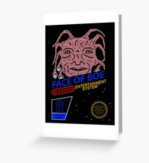 NINTENDO: NES Face Of Boe Greeting Card