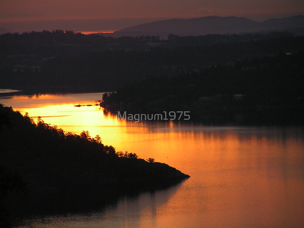 Brentwood Bay from the Malahat by Magnum1975