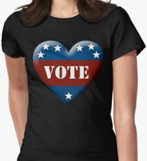 vote heart Womens Fitted T-Shirt