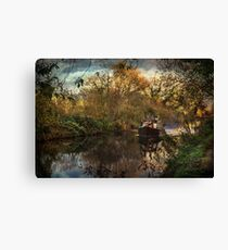 Narrowboat On The Kennet And Avon Canvas Print