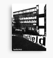 TowerBlockMetal Urban T Shirt 2 Canvas Print