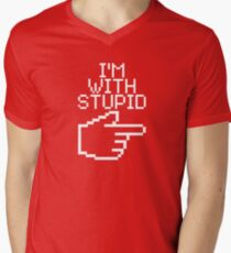 I'm with Stupid Men's V-Neck T-Shirt