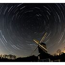 Star Trail - Mountnessing Windmill by Peter Barrett