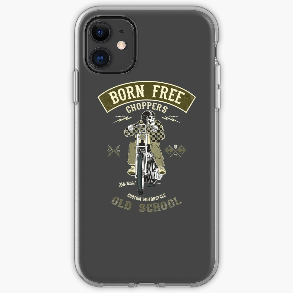 Born Free - Custom Motorcycle iPhone-Hülle & Cover