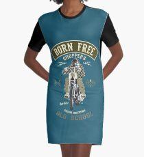Born Free - Custom Motorcycle T-Shirt Kleid
