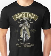 Born Free - Custom Motorcycle Slim Fit T-Shirt