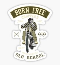 Born Free - Custom Motorcycle Sticker