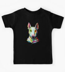 Bull Terrier Colorful Painting Kids Tee