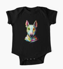 Bull Terrier Colorful Painting One Piece - Short Sleeve