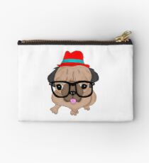 Hipster Pug Studio Pouch
