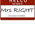 Mrs Right by Jayson Gaskell