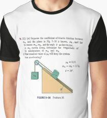Physics problem: Suppose the coefficient of kinetic friction between the mass and the plane is known. #Physics #Education #PhysicsEducation,  Graphic T-Shirt