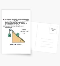 Physics problem: Suppose the coefficient of kinetic friction between the mass and the plane is known. #Physics #Education #PhysicsEducation,  Postcards
