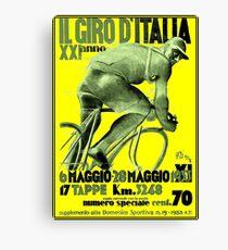 Lienzo GIRO D ITALIA: Vintage 1933 Bike Racing Publicidad Imprimir