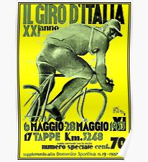 GIRO D ITALIA : Vintage 1933 Bike Racing Advertising Print Poster