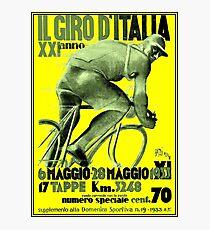 GIRO D ITALIA : Vintage 1933 Bike Racing Advertising Print Photographic Print
