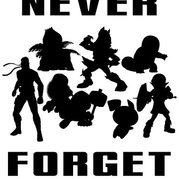 Never Forget (Black) by sm4shshorts