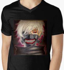 Camiseta para hombre de cuello en v keneki ken ghoul forma