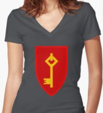 Royal Gibraltar Regiment (UK) - Tactical Recognition Flash Women's Fitted V-Neck T-Shirt