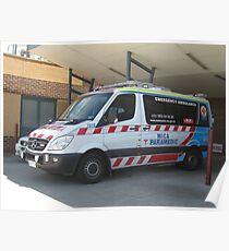 Mica Paramedic Vehicle - Latrobe Valley Hospital Poster