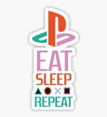 EAT SLEEP PLAYSTATION REPEAT TSHIRT  Sticker