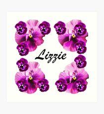 Personalised flowers Art Print