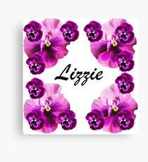 Personalised flowers Canvas Print