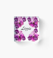 Personalised flowers Acrylic Block