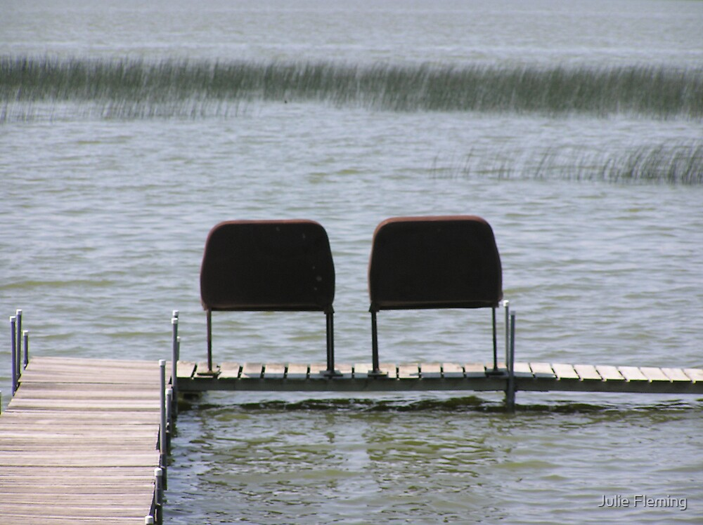 Two chairs by Julie Fleming