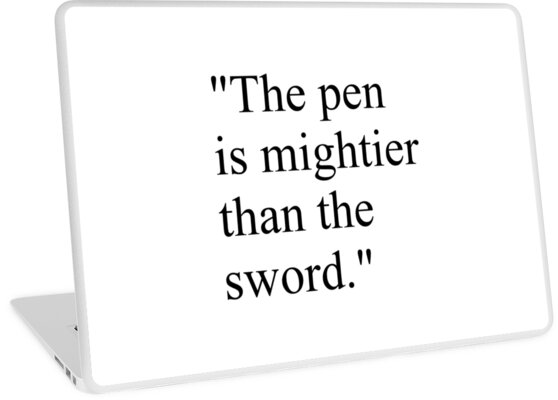 "Proverb: ""The pen is mightier than the sword."" #Proverb #pen #mightier #sword. Пословица: ""Перо сильнее меча"" by znamenski"
