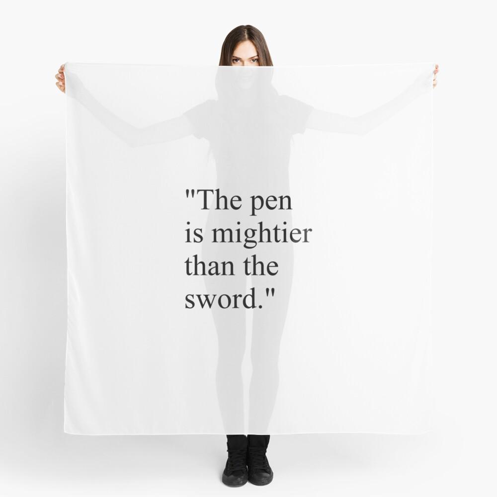 Proverb: The pen is mightier than the sword. #Proverb #pen #mightier #sword. Пословица: Перо сильнее меча Scarf
