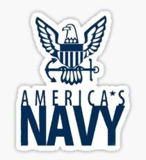 America's Navy Logo Sticker