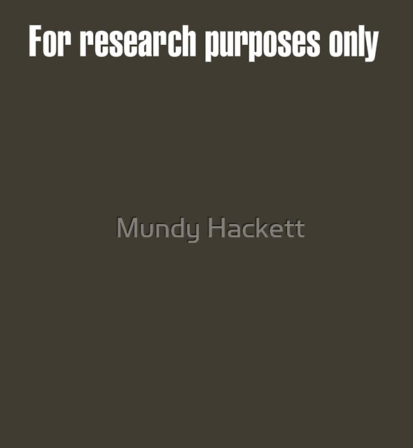 For research purposes only by Mundy Hackett