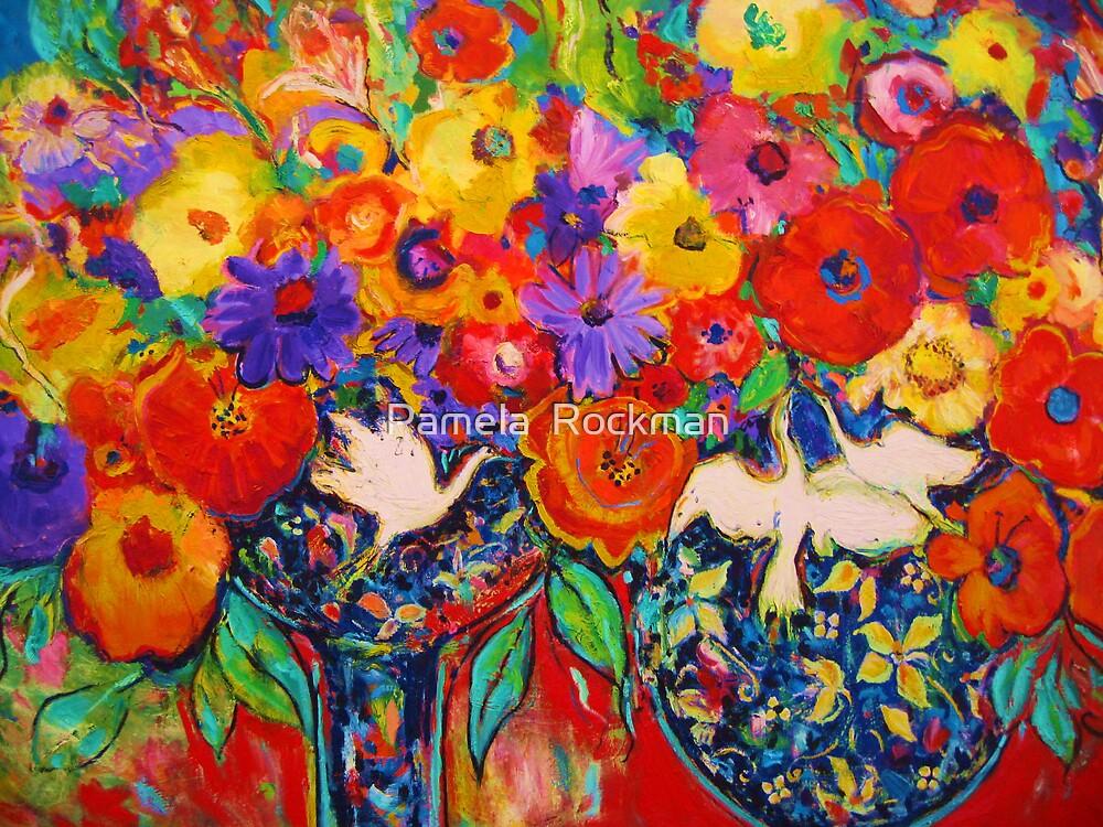 Birds and Flowers by Pamela  Rockman