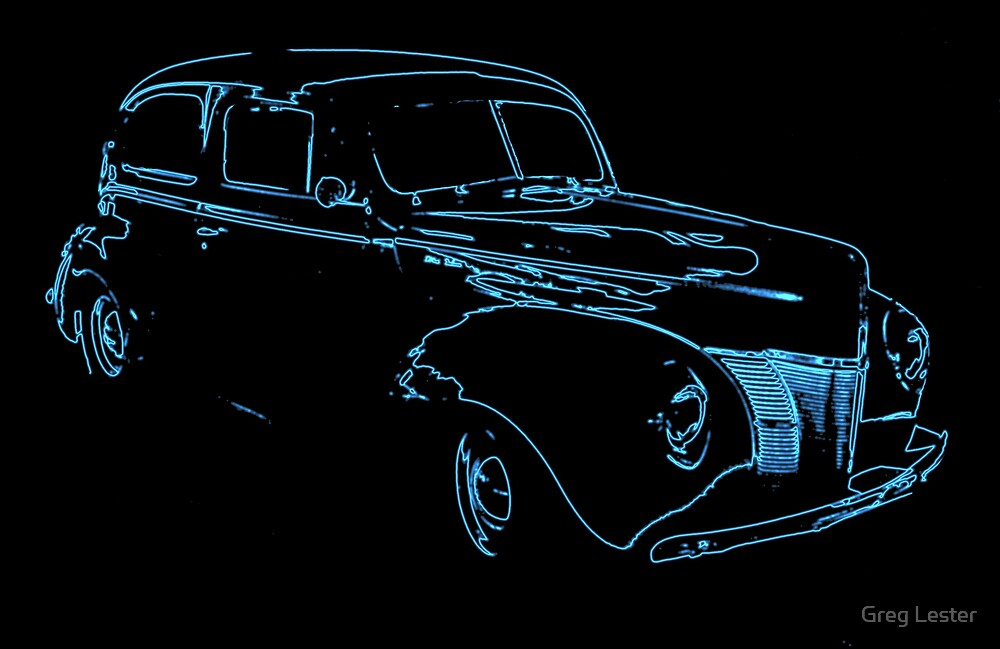 Neon 40's Ford Coupe by Greg Lester