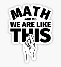 Funny Math Gift Sticker