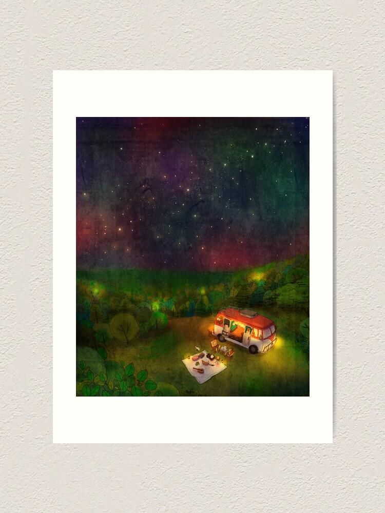 Alternate view of Camping Art Print