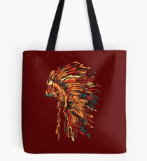Chief war bonnet Tote Bag