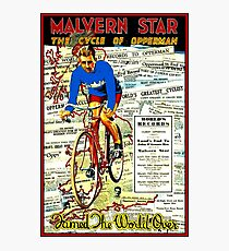 MALVERN STAR : Vintage 1890 Hubert Opperman Cycling Records Print Photographic Print