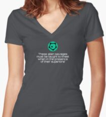 Stellaris - Xenophobe Ethos Quote Women's Fitted V-Neck T-Shirt