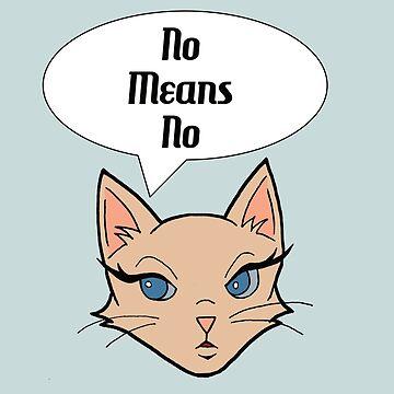 Feminist Cat Cartoon Illustration by namibear