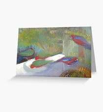 Angelsea Birdlife (detail) Greeting Card